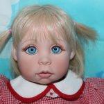 Цена вниз! Бесплатная доставка! Кукла Phillis Parkins голубоглазая малышка 54 см. Само очарование!