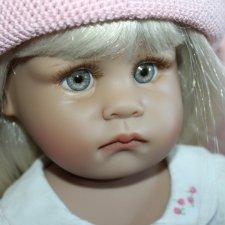 Скидка! 7499 руб!!! Коллекционная куколка Девочка с кроликом от Linda Rick