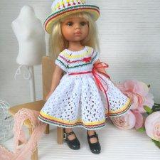 Вязаное платье и шляпка для Паолки