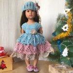 Распродажа вязаной одежды для кукол формата Готц