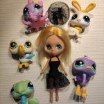 Куколка Blythe Petite и зверята LPS