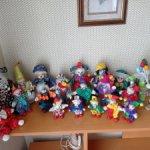 Большая коллекция фарфоровых клоунов 21 шт