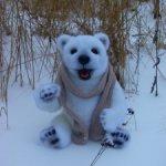 Авторский,большой- Полярный медведь(7000)