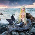 Авторская будуарная куколка-Сирена русалка