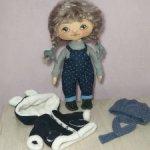 Интерьерная кукла,вся одежда съемная