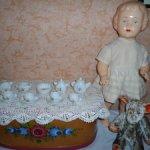 Крошечная кукольная посудка Песочное 1964 г.