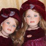 Девочки-близняшки! Фарфоровая кукла Дезире от Angela McNeely
