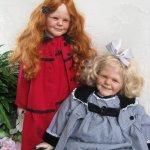 Сестрички Изабель и Анабель, возрожденные золотыми ручками Lucy Daale (Otto Lindemann)