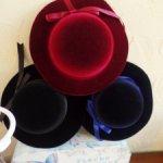 Прекрасная велюровая шляпа для кукол на размер  30-34.Для Паолок,Мидлтошек и кукол ростом 50-70см