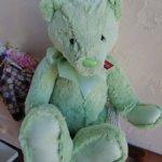 """""""Мой первый мишка"""" MEADOW от Charlie Bears,Цвет лайм. 45cm.Отличный подарок!"""