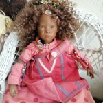 Ntathi от Annette Himstedt. Мини версия большой куклы.