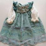 Оригинальное платье Zawieruszynski. Кружева, натуральный лен,вышивка. Новое. Для кукол 55-65см