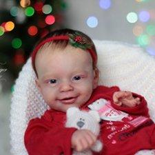 Моё новогоднее солнышко. Малышка из молда Санни. Кукла реборн Олеси Венгер