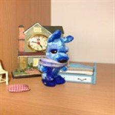 Голубой щенок, игрушка  ручной работы