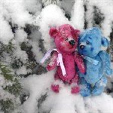 Снежные мишки тедди