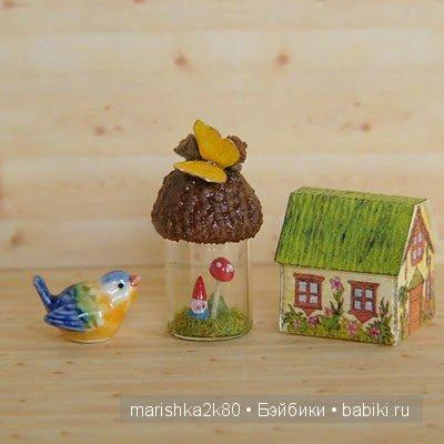 Миниатюрные вязаные композиции от Мариэллы (Mariella)