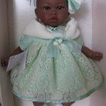 кукла мулаточка в кружевном платьице