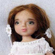 Виктория - полушарнирная куколка-малышка