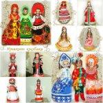Национальные костюмы на фарфоровых куколках 21 см (ООАК)