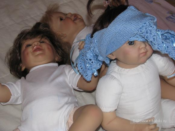 Мои малышки Ханни, Мия и Эми. Куклы от мастеров Inge Tenbusch,  Petra Lechner, Andrea-Arcello
