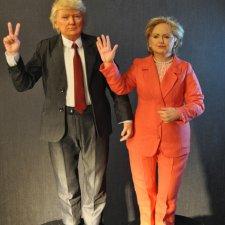 Портретные куклы - Дональд Трамп и Хиллари Клинтон, автор Тимкаева Елена