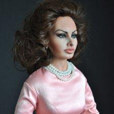 """Портретная кукла """"Софи Лорен"""" Тимкаевой Елены"""