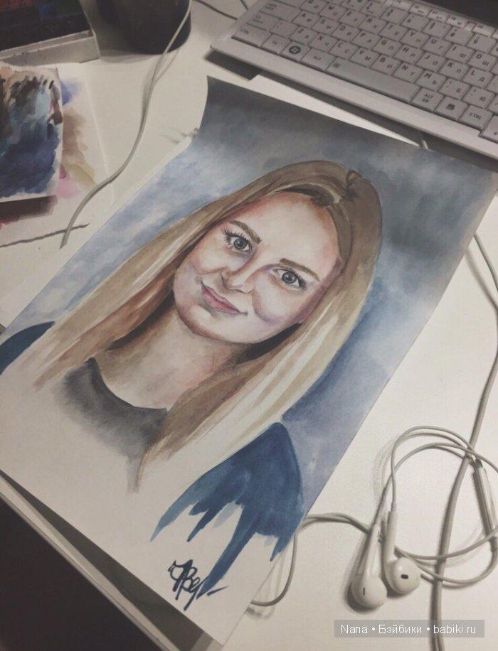 акварель портрет