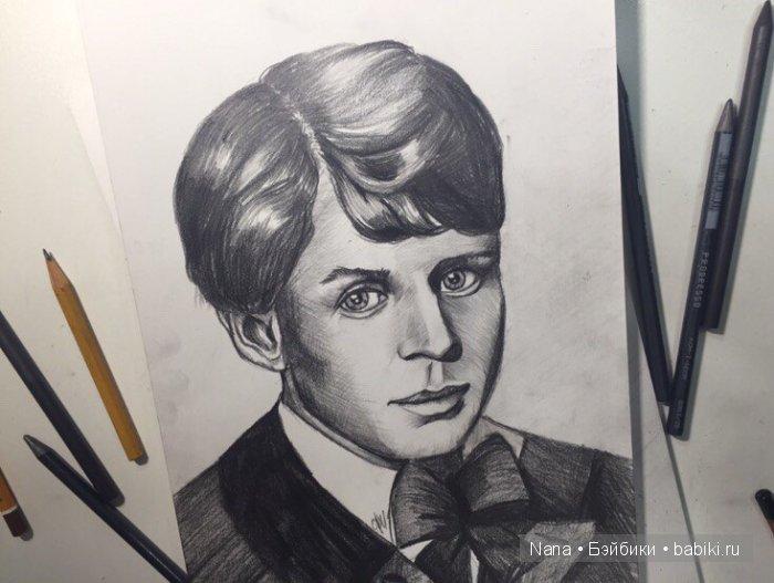 карандаш портрет Сергей Есенин