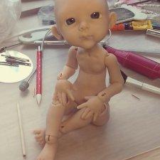 Еще одна креветочка. Процесс работы. Кукла Кондрашовой И.
