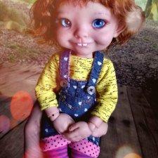 Авторская шарнирная кукла Кондрашовой И