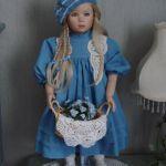 Фарфоровая Незабудка от Elite Doll. Композиция от Cindy McClure