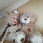 Кукла типа тедди-долл и её друг - Мишка