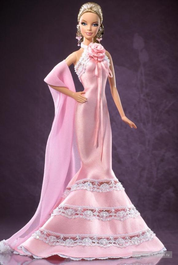 Барби в Розовом платье от Бадлей Мишка Коллекционная