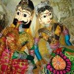 Большие парные куклы-марионетки (катхпутли)