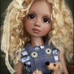 Новая девочка RUBY in milk chocolate skin tone от  Liz Frost