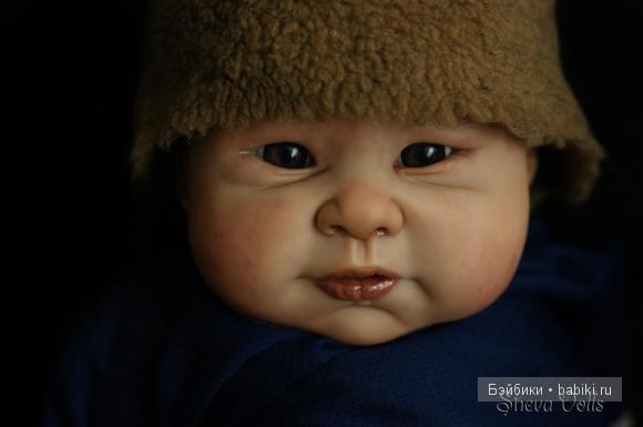 reborn baby boy. Монгольский мальчик реборн Коке. Молд Jia-Li  by Sebilla Bos