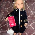 Полный аутфит от виниловой куклы Карлы от Gotz, 50 см, с прикрепленными документами
