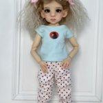 Одежда и парик на куколку Кайе Виггс мсд