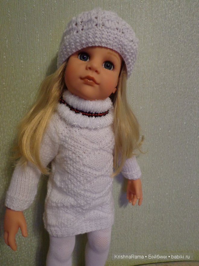 вязаная одежда для кукол Gotz.