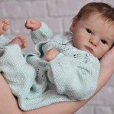 Кукла реборн Регины Мельниченко - Грейсон, очень серьезный малыш