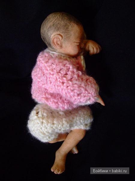 Три малыша-крепыша из полимера, авторская кукла своими руками