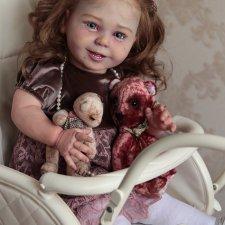 Нежная, весёлая девочка моя. Малышка Лаура. Кукла реборн Эмилии Аредаковой