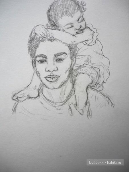 негр и малышка
