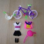 Велосипед и одежда от винтажной Стейси Barbie