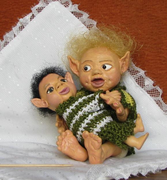 Продолжаю лепить... Мои новые куклы из самоотвердевющего пластика