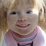 Портретная девочка из пластики. Авторская кукла Марии Горячевой