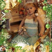 Моя любимая Габриелла с Новогодними фотографиями