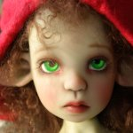 Mademoiselle Buonaparte или росшная Нелличка фавн green Kaye Wiggs с кастомным мейком и аутфитом от Val Zeitler