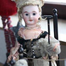 Очень работящая девушка пряха - антикварная французская кукла автоматон Roullet et Decamps