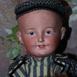 Редчайшая неатрибутированная антикварная немецкая кукла 42 cm